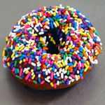 """A Fractured Prune """"carnival"""" donut---my favorite! Always made to order. Also on my """"death row"""" menu."""