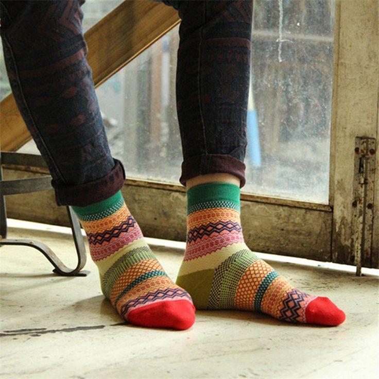 Men Women Stripe Cotton Socks Design Multi-Color Fashion Casual Ankle Sock online - NewChic