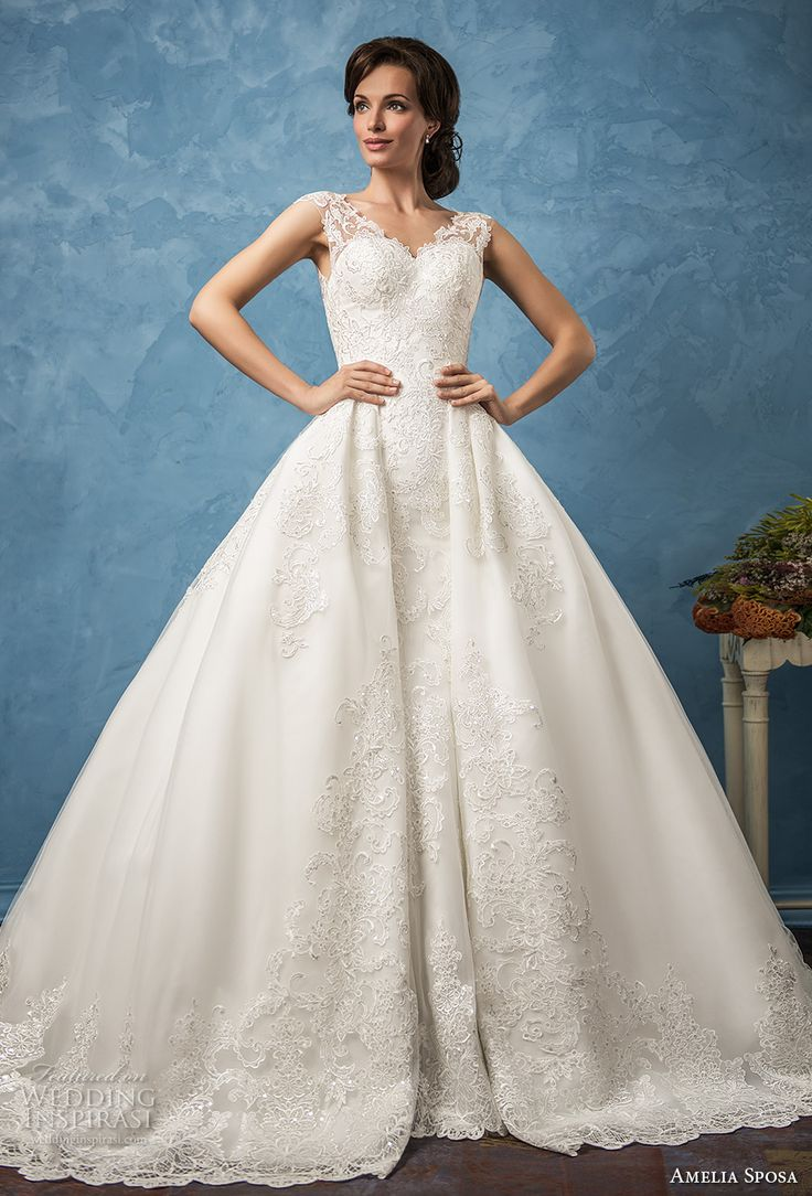 655 best wedding dress images on Pinterest | Weddings, Bridal hair ...