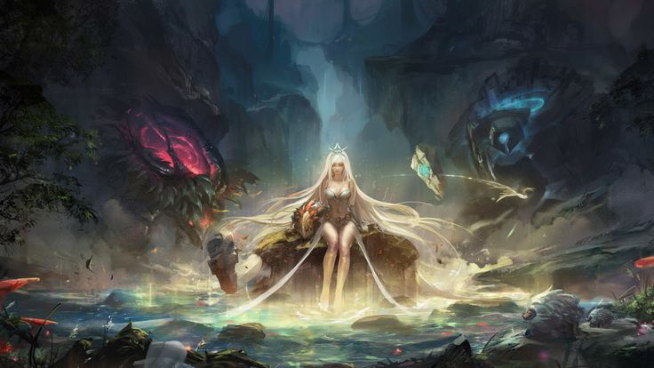 104 best gaming wallpapers hd only images on pinterest gaming general technomancer fantasy art artwork digital art white hair dark pond trees rocks fantasy girl league of legends janna league of legends poro voltagebd Gallery