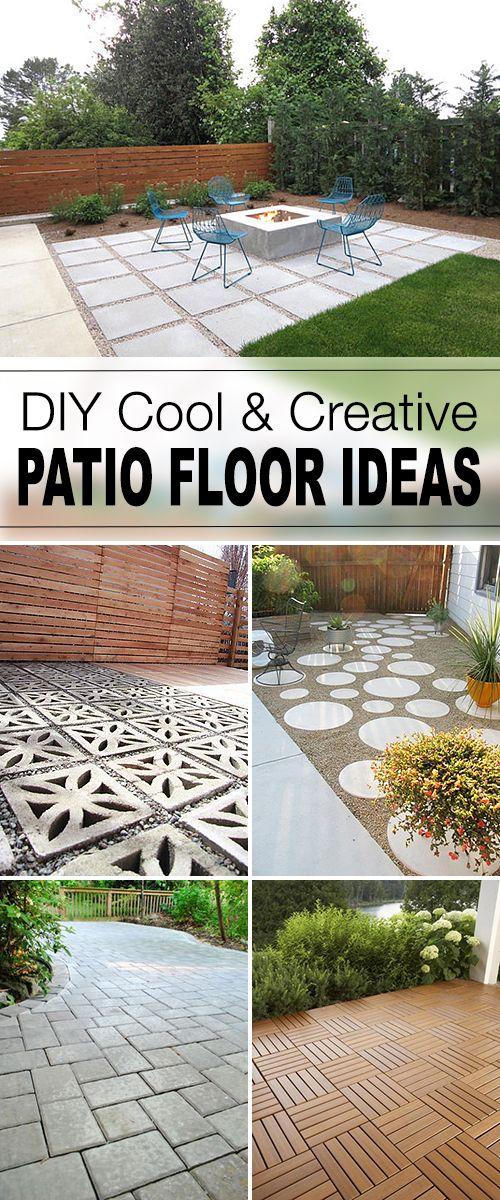 9 Diy Cool Creative Patio Flooring Ideas Tgg Diy Garden Ideas
