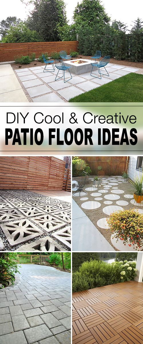 9 diy cool creative patio flooring ideas - Cover Concrete Patio Ideas