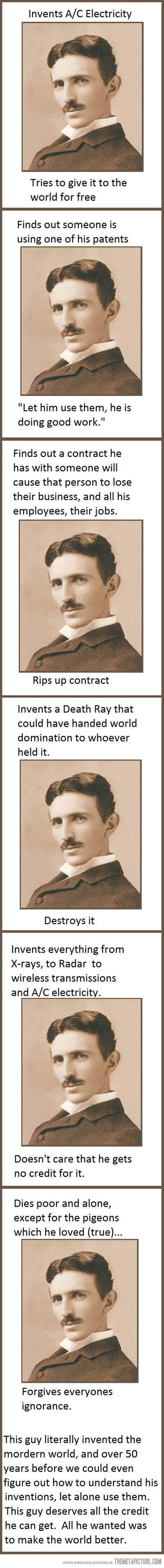 Good Guy Tesla… The real deal.