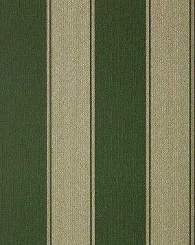 Papel pintado barroco moderno a rayas y relieve estampado EDEM 753-38 en caliente en verde oscuro noble platino – Bild 1