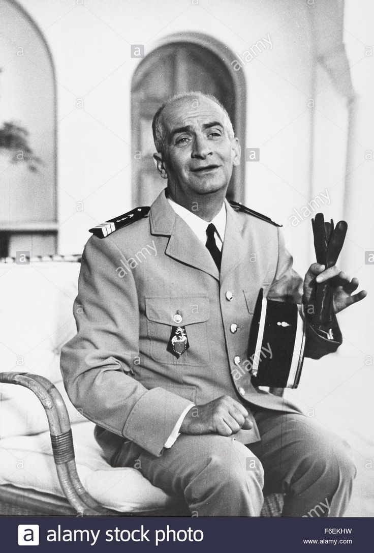 Download this stock image: 1968; Le Gendarme Se Marie. Original Film Title: Le Gendarme Se Marie, PICTURED: LOUIS DE FUNES, Director: Jean Girault, IN CAST: Louis De Funes, Michel Galabru, Jean Lefebvre, Claude Gensac - F6EKHW from Alamy's library of millions of high resolution stock photos, illustrations and vectors.