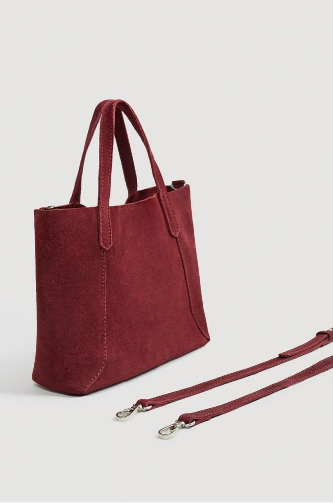 2e6b34552194 Mango - Кожаная сумочка Julia бордовый -80-TOD00J | аксессуары ...