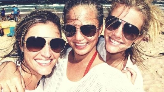 Erin Andrews, Chrissy Teigen, & Brooklyn Decker in Sydney, Australia (April 2012)