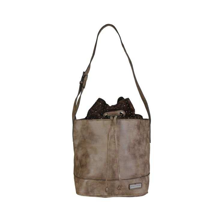 Pierre Cardin – AB42_567613  Shoulder bag of eco leather has drawstring fastening, lined interior, 1 internal zipped pocket and 2 internal pockets. It is of size 27*36*19 cm.  https://fashiondose24.com