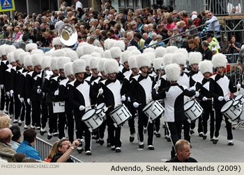 Marching bands from The Netherlands, France and Germany performed in the Bloemencorso Zundert (2009).