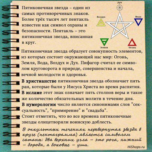 Значение тату пятиконечная звезда, пентакль, пентаграмма