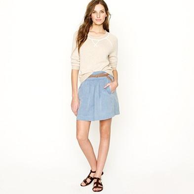 chambray clambake skirt via jcrew