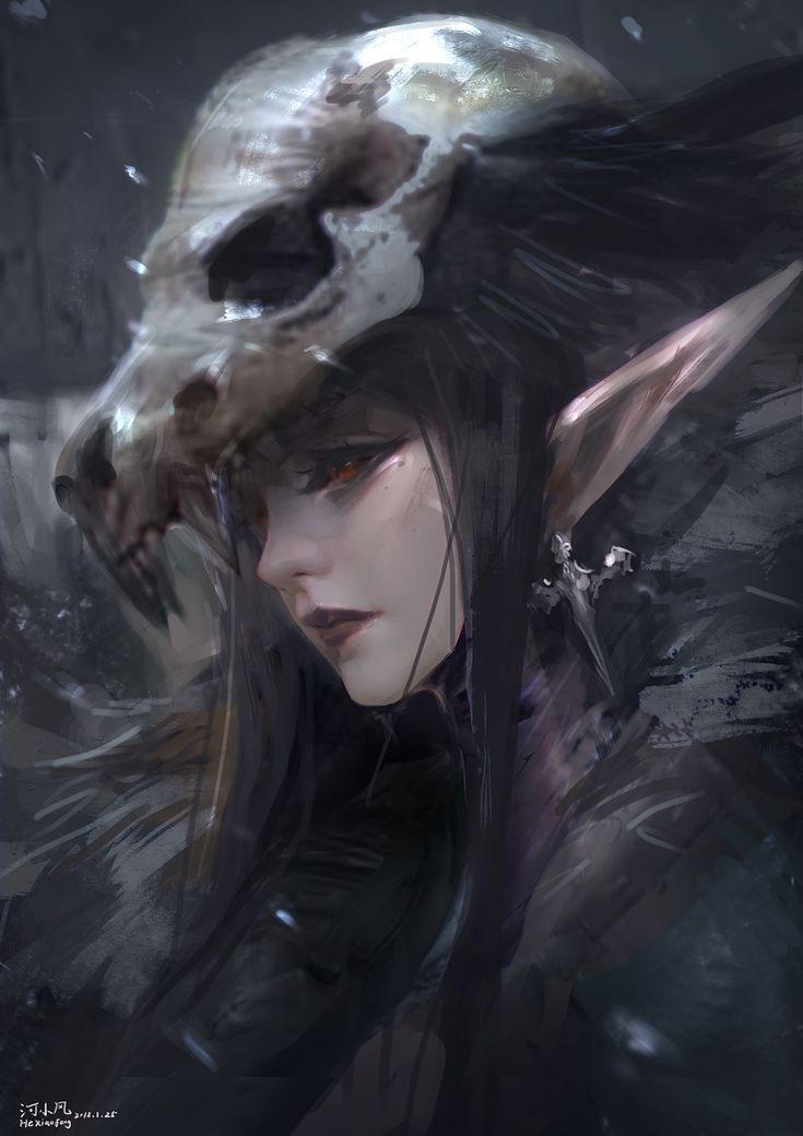 ArtStation - 暗精灵, he xiaofeng