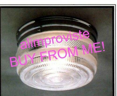 NEW-Drum-CHROME-Vintage-GLASS-Retro-CEILING-LIGHT-FIXTURE-8-034-Kitchen-Bath-1108