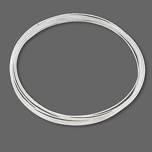 Memorywire, forsølvet stål, 60 mm diameter, armbåndsstørrelse 12 loops.