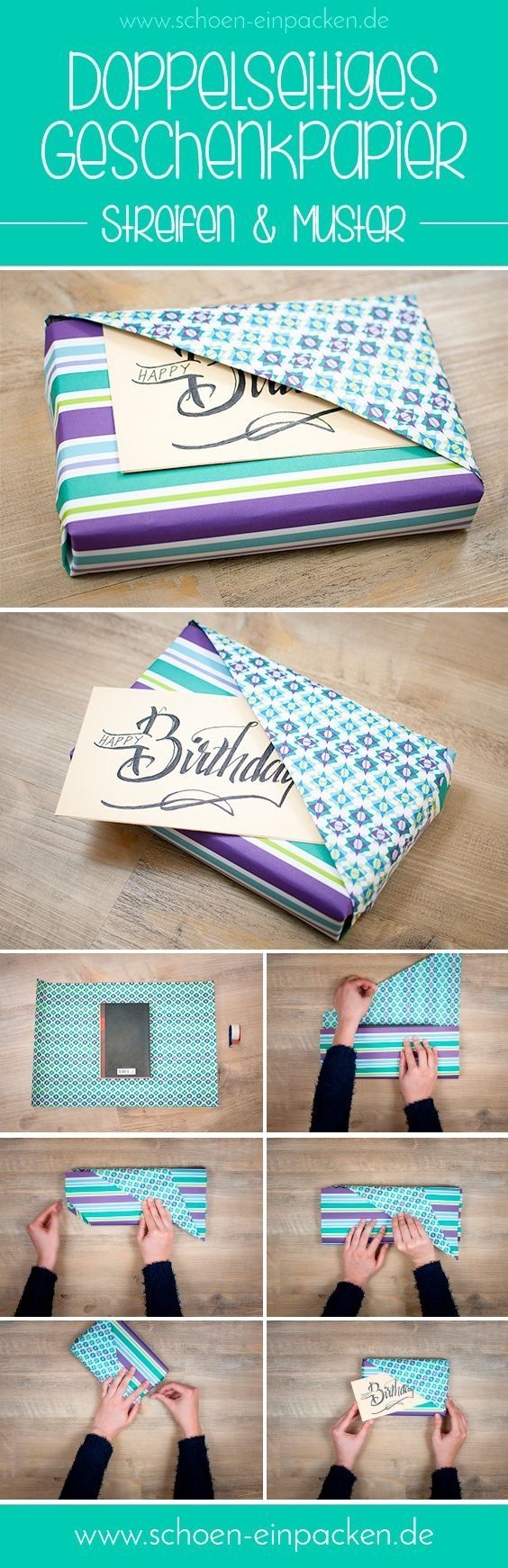 Double sided wrapping paper