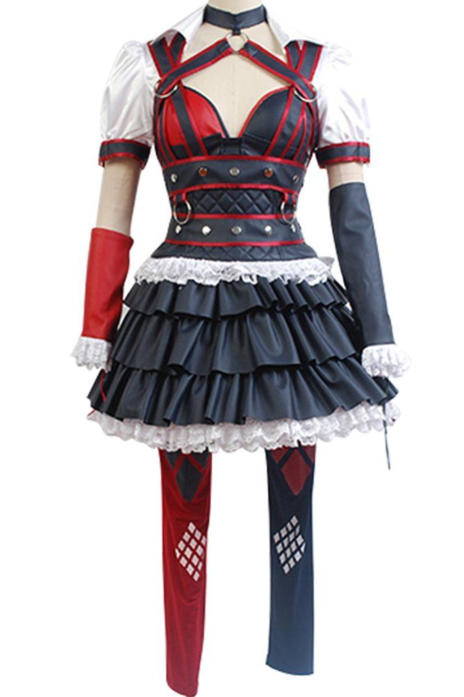 Batman:Arkham Knight Harley Quinn Dress Cosplay Costume adult EU size