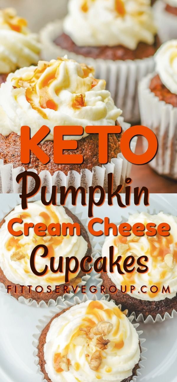 Keto Pumpkin Cream Cheese Cupcakes