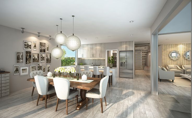 The spacious Kitchen/Dining area in the Rembrandt 387 #GalleryHomes #LuxuryHomes #DesignerHomes #RealEstate #kitchens