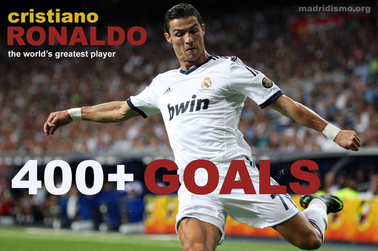 Ronaldo has scored over 400 goals lifetime! http://www.madridismo.org