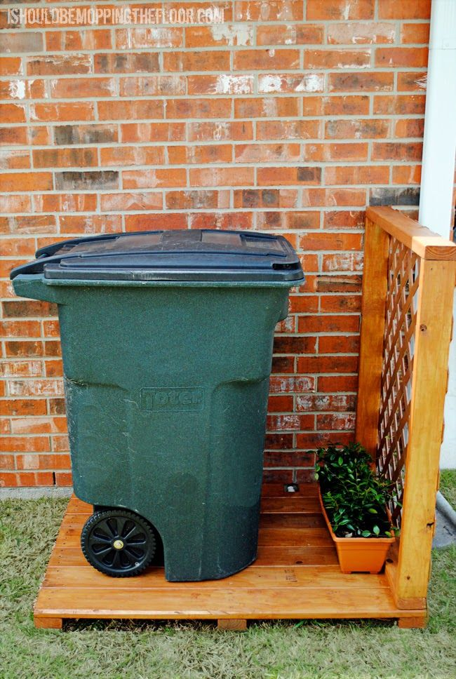 1000 Images About Hide Garbage Cans On Pinterest
