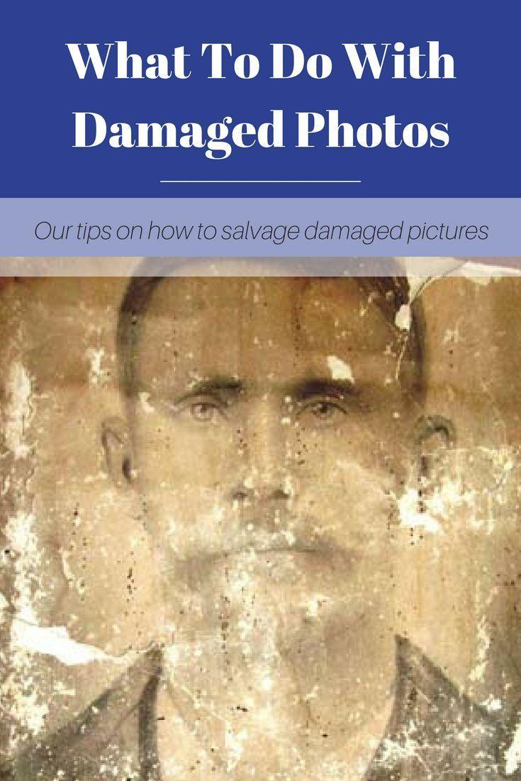 Was tun, wenn Sie ein beschädigtes Familienfoto finden?