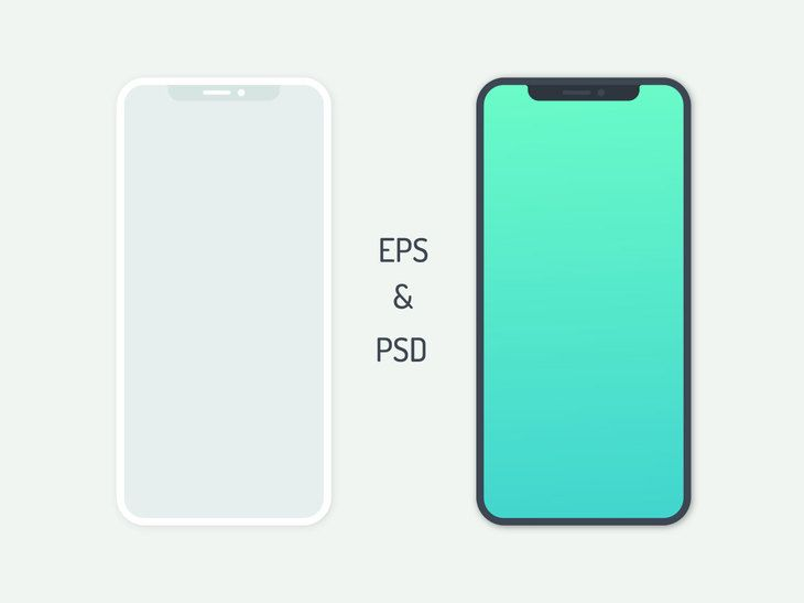 Free Flat Iphone X Preview Iphone Phone Mockup Pattern Iphone
