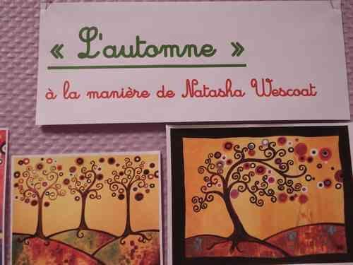"""Arts visuels au CE2 : """"l'automne"""" à la manière de Natasha Wescoat - Ecoles de…"""
