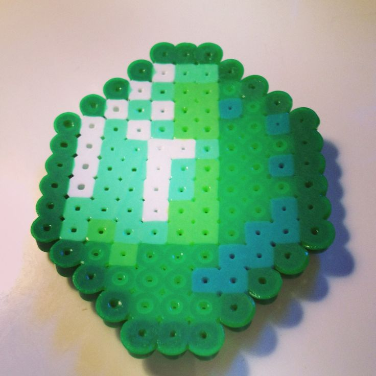 Minecraft emerald perler beads | DIY & Crafts that I love ...