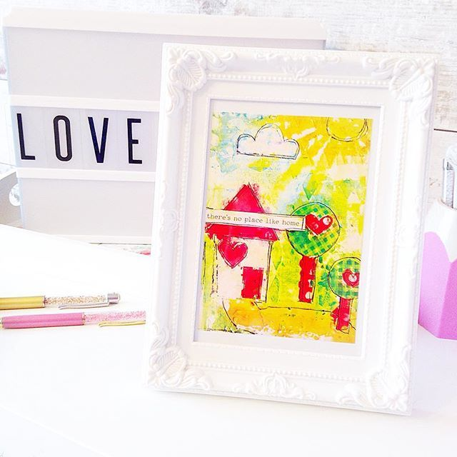 Lisa artwork in this months @lollipopboxclub was just too pretty to cut up and make into a dashboard, so I have framed it instead. Isn't it gorgeous! 😍