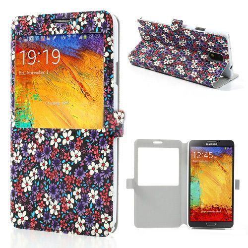 Kleurrijke bloemetjes flipcover hoesje voor Samsung Galaxy Note 3