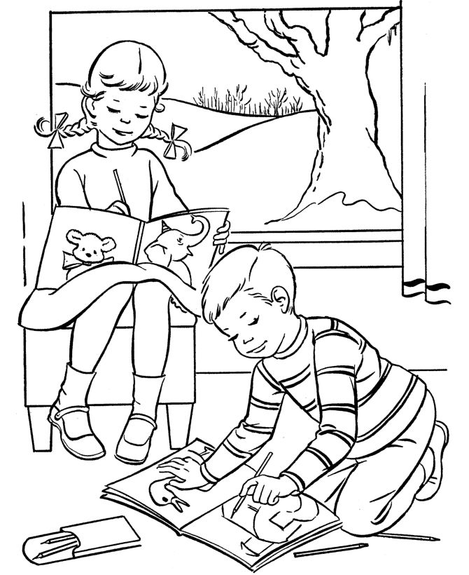 Easter Kids Fun Coloring Pages