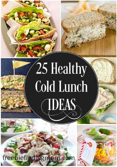 Here are 25 delicious and healthy cold lunch ideas that are perfect for a hot summer day (or any day you don't feel like cooking)..