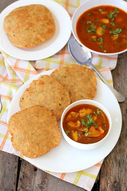 Bedmi Puri recipe, a popular Indian street food, wheat flour based bread stuffed with spiced lentils and served with a spicy potato curry