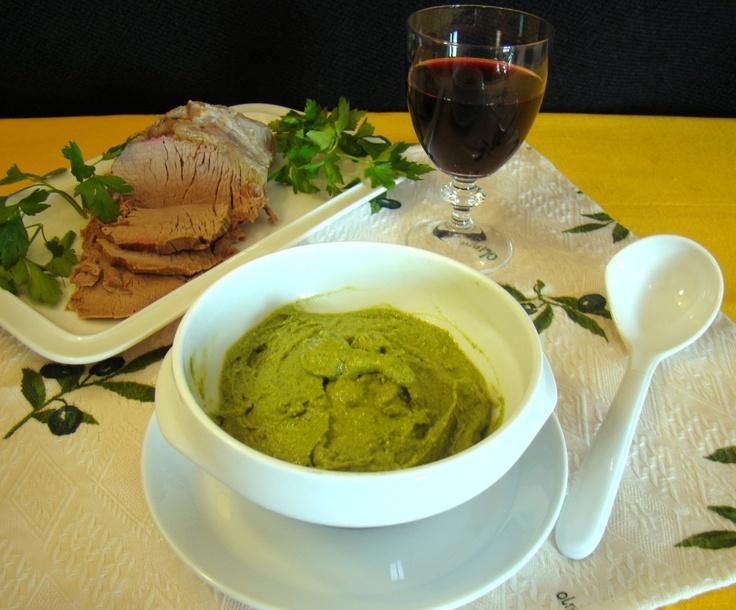 Salsa verde (green sauce), Emilia-Romagna
