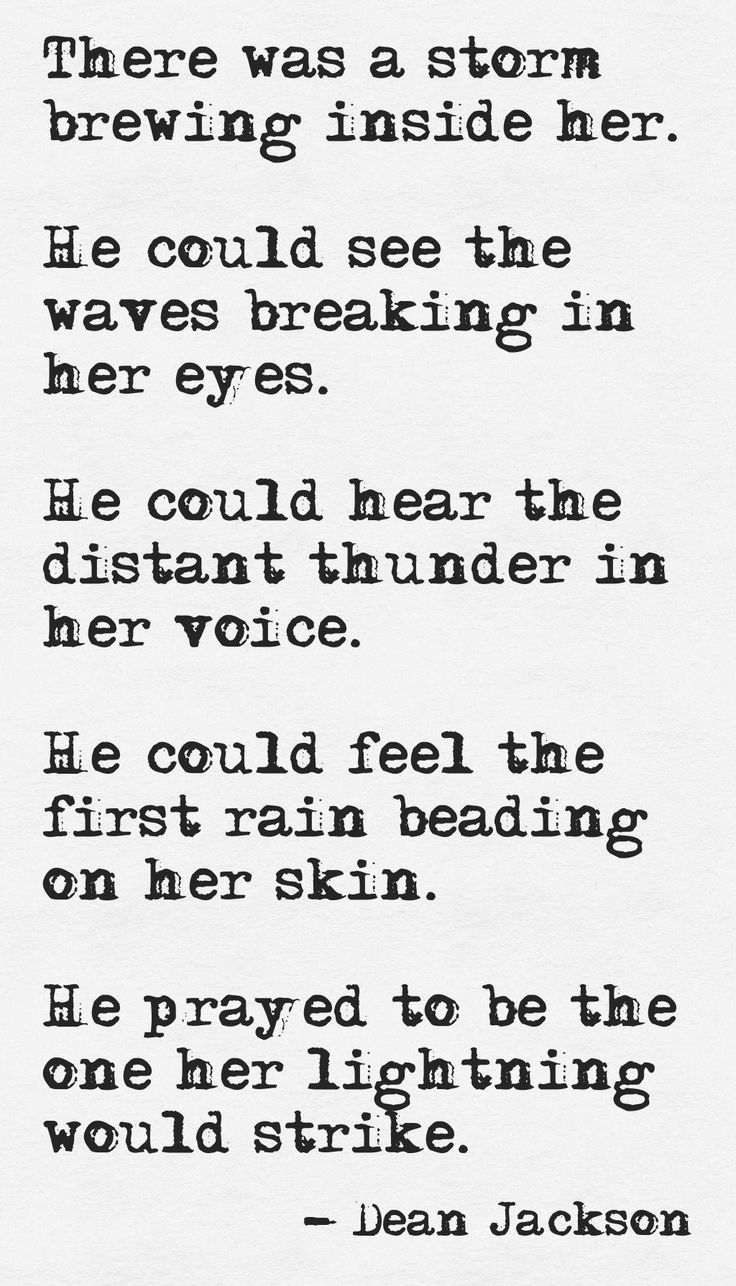 Gathering Storm (typewriter version) ~ Dean Jackson