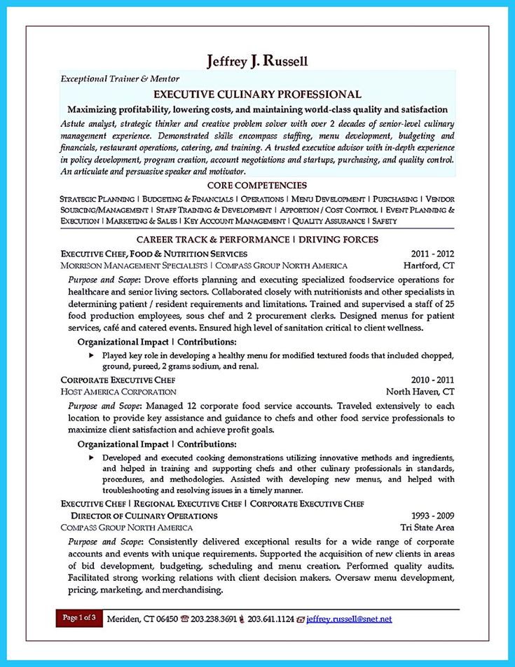 nice Excellent Culinary Resume Samples to Help You Approved, Check more at http://snefci.org/excellent-culinary-resume-samples-help-approved