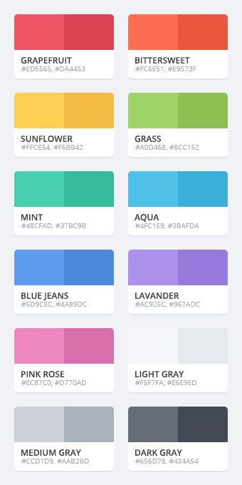 Flattastic color palette by Erigon