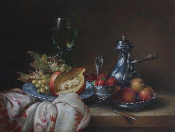stilleven met zilverwerk - Still-life - Kunstwerken van Paul van Ernich