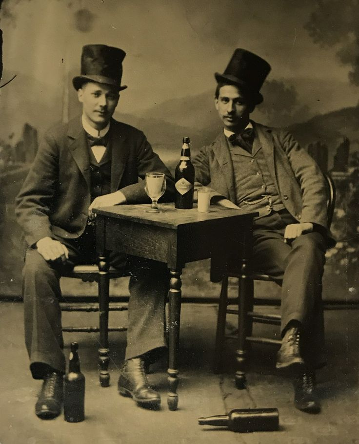 Virgil and James Earp on a sixth plate tintype. This is a pretty obvious studio set up shot, right down to the paper inserted in the glasses! Original image from the collection of P. W. Butler.