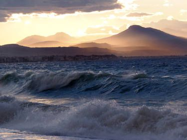 "Saatchi Art Artist Mellissa Briley; Photography, ""Loutraki Winds"" #art #photography #Greece #sea #waves"