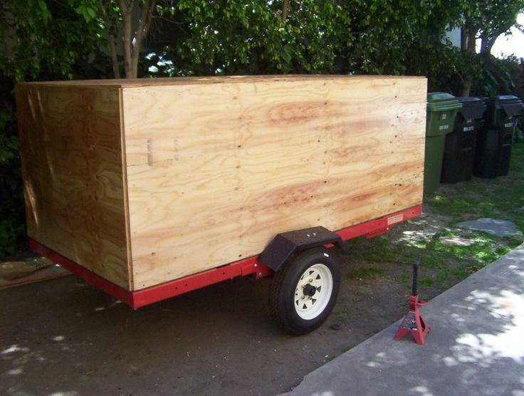 Simple, enclosed trailer. DIY Versatility Trailer