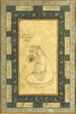 Seated Dervish Signed by Riza Abbasi (ca. 1565–1635) Iran, probably Isfahan, dated 1626 Ink and color wash on paper The Arthur M. Sackler Gallery and the Freer Gallery of Art - Smithsonian Institution, Washington DC