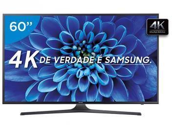 """Smart TV LED 60"""" Samsung 4K/Ultra HD 60KU6000 - Conversor Digital Wi-Fi 3 HDMI 2 USB"""
