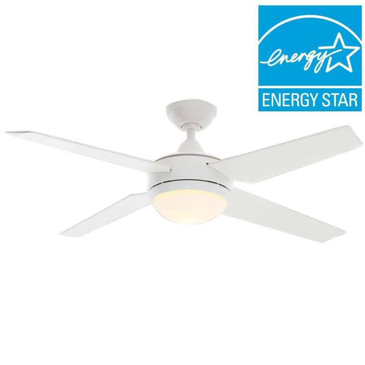 Home Depot $199- Hunter Sonic 52 in. White Ceiling Fan-59073 - The Home Depot
