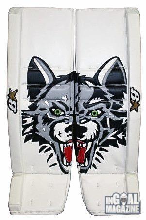 Brian's custom goalie pads for Chicago Wolves #goalies