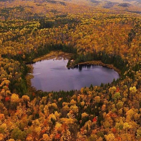 The heart shaped lake in quebec canada places to visit for L shaped lake