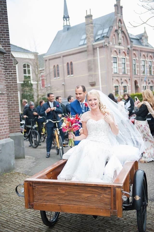 Real wedding. Dutch wedding transportation