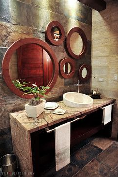love this idea for the walls and the vanity