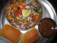 #Misal Pav – Hot and Spicy Street Food is popular street food in Maharashtra, especially #Mumbai , #Pune and #Kolhapur   Hot and spicy, this will liven up your taste buds. A must try for authentic taste of India. Vmisal