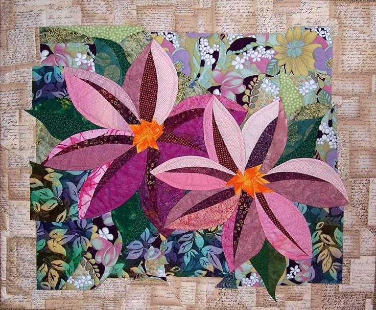 Clematis quilt by Kim Butterworth, featured at See How We Sew